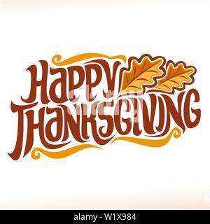 Vector poster for Thanksgiving - Stock Photo