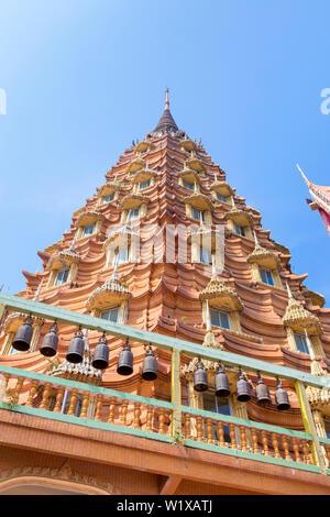 Wat Tham Khao Noi temple complex near Kanchanaburi, Thailand - Stock Photo