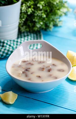 Turkish Meat Soup Kelle Paca - Stock Photo