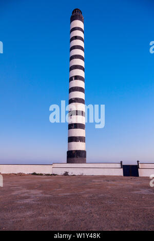 Lighthouse in Dakhla. Dakhla, Western Sahara, Morocco. - Stock Photo
