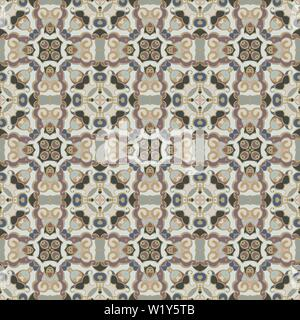 Abstract Oriental pattern. Seamless symmetrical pattern of swirls, lines and stars. Vector illustration. - Stock Photo