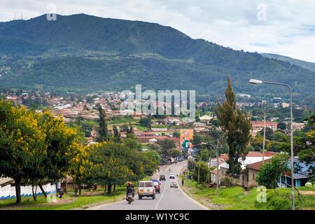 Aerial View Of Mbeya Town Tanzania Stock Photo 126679205