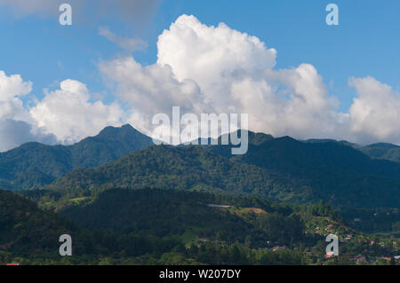 Image showing a Panama landscape taken from the town of Boquete in the Chiriqui province looking toward the Volcan Baru area. - Stock Photo