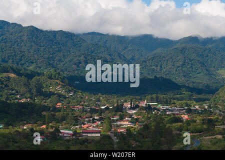Image showing Boquete, a small town in the Chiriqui province of Panama. Boquete is known for its production of fine coffee. - Stock Photo