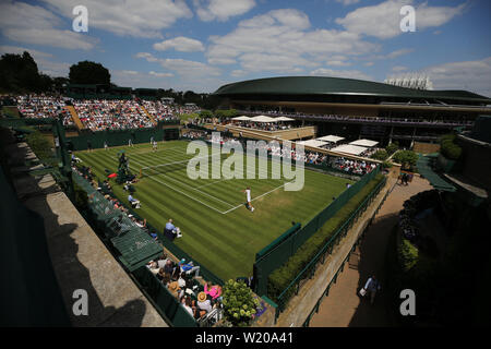 London, UK. 3rd July, 2019. A general view of court 18. Credit: Andrew Patron/ZUMA Wire/Alamy Live News - Stock Photo