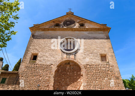 The Royal Carthusian Monastery (Real Cartuja) in the centre of Valdemossa old town. Mallorca island, SpainMallorca island, Spain - Stock Photo