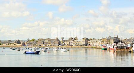 Harbor in Barfleur, France - Stock Photo