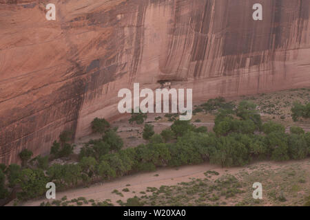 White House Ruins in Canyon De Chelly National Monument, Navajo Nation, Arizona US - Stock Photo