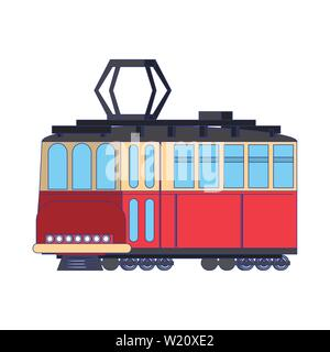 Tranvia public tranport vehicle isolated - Stock Photo