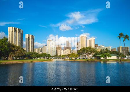 cityscape of honolulu in oahu island, hawaii, us Stock Photo