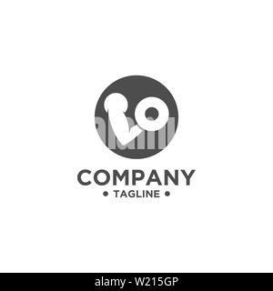 Fitness Gym Logo Design Template. Healthy Life Symbol. Sports Brand or Company - Stock Photo