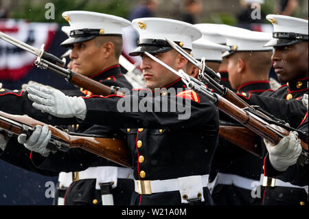 Washington, United States. 04th July, 2019. Military performance at the National Mall in Washington, DC during the Independence Day on July 4. Credit: SOPA Images Limited/Alamy Live News - Stock Photo