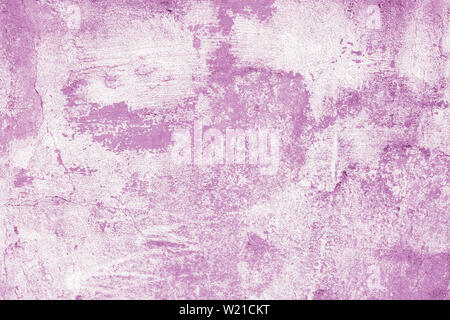 Abstract pattern, pink background. Purple paint stains on white canvas. creative illustration of aquarelle. Artwork, light drawing surface. Grunge wal - Stock Photo