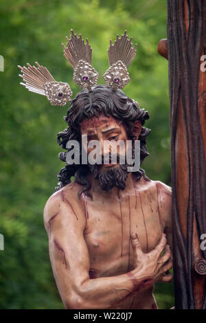 Brotherhood of the Sun in the Holy Week of Seville - Stock Photo