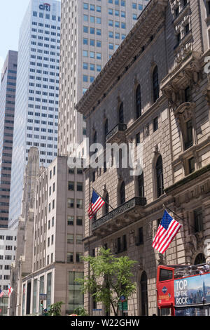 The University Club of New York is a private social club located at 1 West 54th Street at Fifth Avenue in Manhattan, New York, USA - Stock Photo