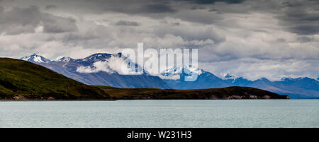 A Panoramic Image Of Lake Tekapo and The Southern Alps, Canterbury Region, South Island, New Zealand
