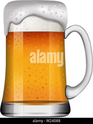 beer mug glass  realistic illustration vector - Stock Photo
