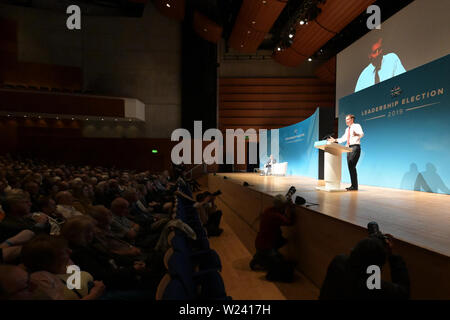 Perth, Scotland, United Kingdom, 05, July, 2019. Conservative Party leadership Jeremy Hunt addresses a leadership election hustings for party members. © Ken Jack / Alamy Live News - Stock Photo