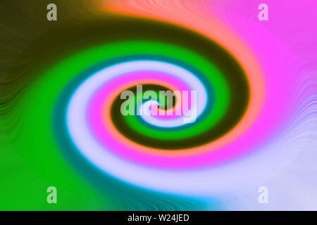 Colorful abstract twirl effect background with flower Stock