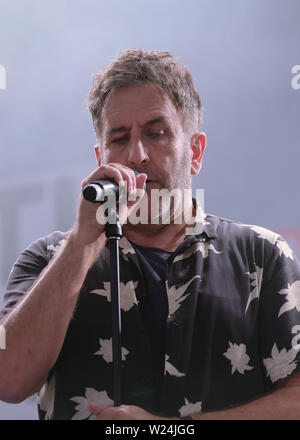 Great Tew, Oxfordshire, July 5th 2019. Terry Hall performing on stage with The Specials at Cornbury Festival, Great Tew, Oxfordshire Credit: Dawn Fletcher-Park/Alamy Live News - Stock Photo