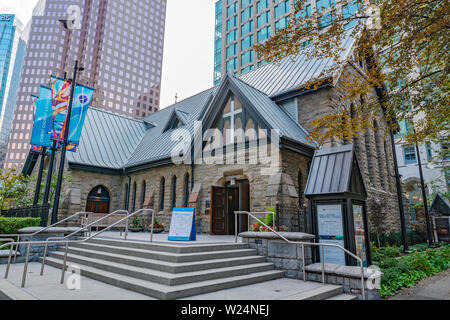 Canada, British Columbia, Vancouver, Christ Church Cathedral, Anglican Church of Canada - Stock Photo