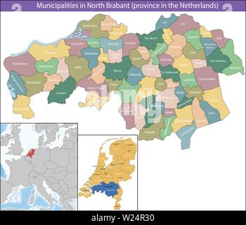 North Brabant is a province of the Netherlands - Stock Photo