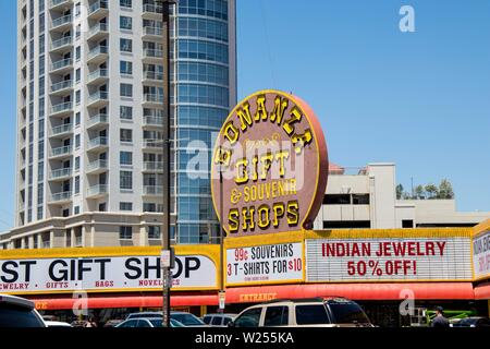 Bonanza Gift and Souvenir Shop in Las Vegas, Nevada - Stock Photo