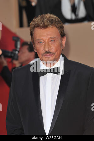 CANNES, FRANCE. May 17, 2009: Johnny Hallyday  at the premiere of his new movie 'Vengeance' in competition at the 62nd Festival de Cannes. © 2009 Paul Smith / Featureflash - Stock Photo