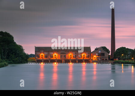 The D.F. Wouda Steam Pumping Station (ir. D.F. Woudagemaal) is a pumping station in the Netherlands, and the largest still operational steam-powered p - Stock Photo