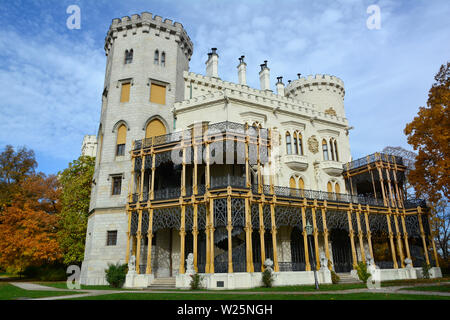Hluboká Castle, Schloss Frauenberg, Hluboká nad Vltavou, Czech Republic, Europe - Stock Photo