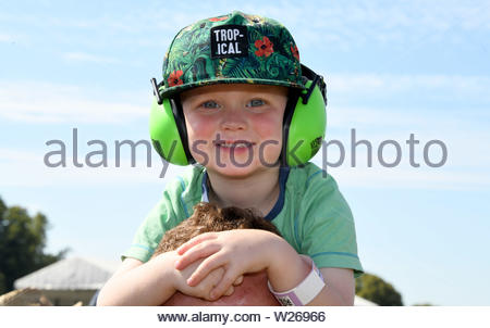 Pictured today 5/7/19 is the second day of the Goodwood Festival of speed near Chichester in West Sussex - Stock Photo