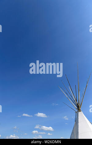 First Nations teepee (wigwam or tipi) - Stock Photo