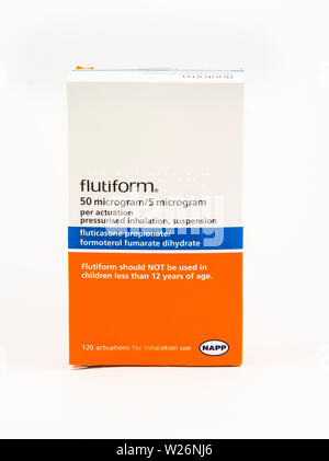 Flutiform pressurised inhalation, suspension - Stock Photo