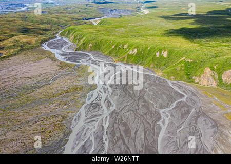Glacial runoff, Denali National Park, Alaska, USA