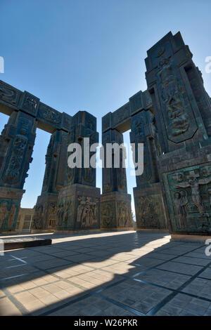 History of Georgia Monument in Tbilisi, Georgia, taken in April 2019rn' taken in hdr - Stock Photo