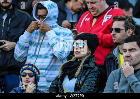 Brazil. 6th July, 2019. Fans in the Game of the match between Argentina X Chile valid for third place dispute of Copa America 2019, in the Arena Corinthians, in São Paulo, this Saturday (06). Photo: Geraldo Bubniak Credit: Geraldo Bubniak/ZUMA Wire/Alamy Live News - Stock Photo