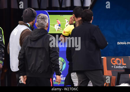 Sao Paulo, Brazil, July 06nd, 2019 -  - Match between Argentina and Chile, valid for the competition of 3rd place of CONMEBOL Copa América Brasil 2019, held in the Corinthians Arena, on the afternoon of this saturday, 06. (Credit: Eduardo Carmim/Alamy Live News) - Stock Photo