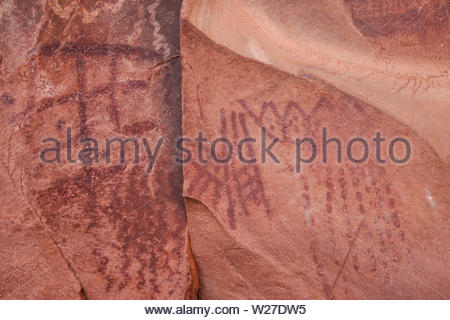 Petroglyphs found in the American southwest - Stock Photo