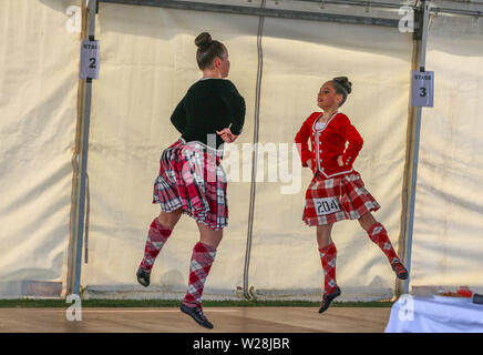 Highland dancing competition at festival in Canberra, Australia - Stock Photo