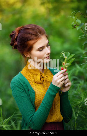 outdoors portrait of beautiful young woman