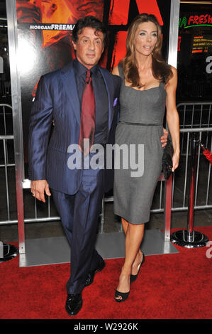 LOS ANGELES, CA. October 11, 2010: Sylvester Stallone & wife Jennifer Flavin at the premiere of 'Red' at Grauman's Chinese Theatre, Hollywood. © 2010 Paul Smith / Featureflash - Stock Photo