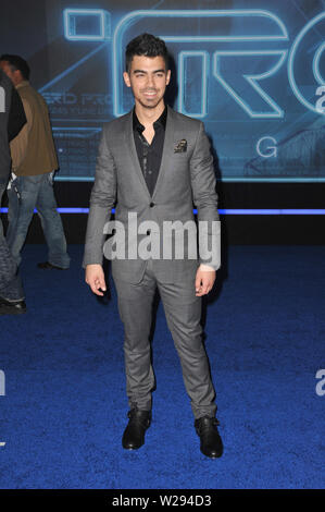 LOS ANGELES, CA. December 11, 2010: Joe Jonas at the world premiere of 'Tron: Legacy' at the El Capitan Theatre, Hollywood. © 2010 Paul Smith / Featureflash - Stock Photo