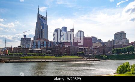 The skyline of Nashville - NASHVILLE, USA - JUNE 15, 2019 - Stock Photo