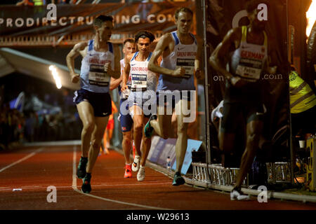 London, UK. 06th July, 2019. Nick Goolab of Great Britain Credit: at European 10,000m cup 2019, athletics event at Parliament Hill Athletics Track in Highgate, London on Saturday 6th July 2019. please note Editorial use only. pic by Tom Smeeth/Andrew Orchard sports photography./Alamy Live News - Stock Photo