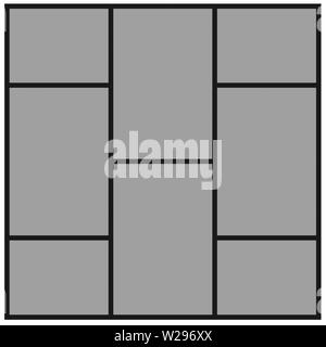Collage photo frame template for images montage - Stock Photo