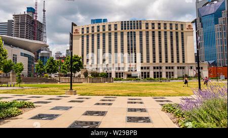 Hilton Hotel Nashville - NASHVILLE, USA - JUNE 15, 2019 - Stock Photo
