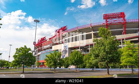 Nissan stadium at Nashville - NASHVILLE, USA - JUNE 15, 2019 - Stock Photo