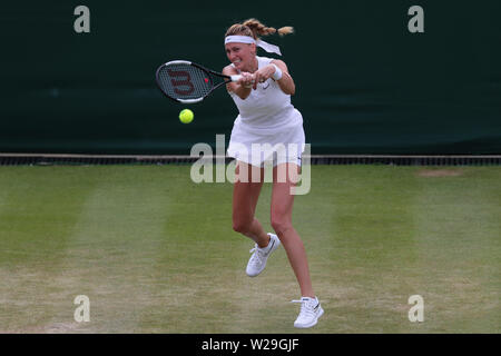 Wimbledon, London, UK. 06th July, 2019. Petra Kvitova, Czech Republic, 2019 Credit: Allstar Picture Library/Alamy Live News - Stock Photo
