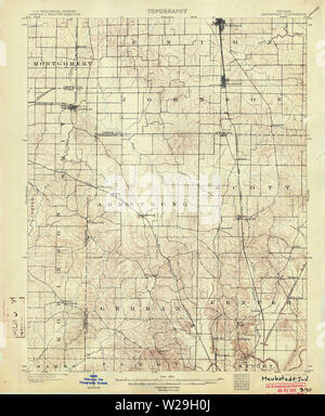 USGS TOPO Map Indiana IN Haubstadt 160496 1903 62500 Restoration - Stock Photo