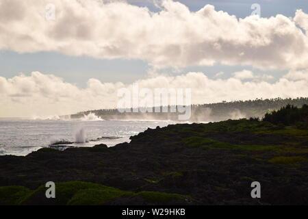 Tonga Blowholes - Stock Photo